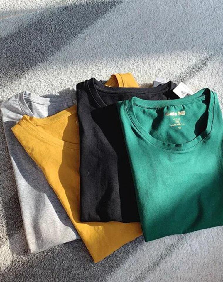 超级白菜!!外贸短袖走一波  万年常青款!仅39.9元  修身显瘦!5色圆领短袖!高弹基础打底T恤!纸袋独立包装!