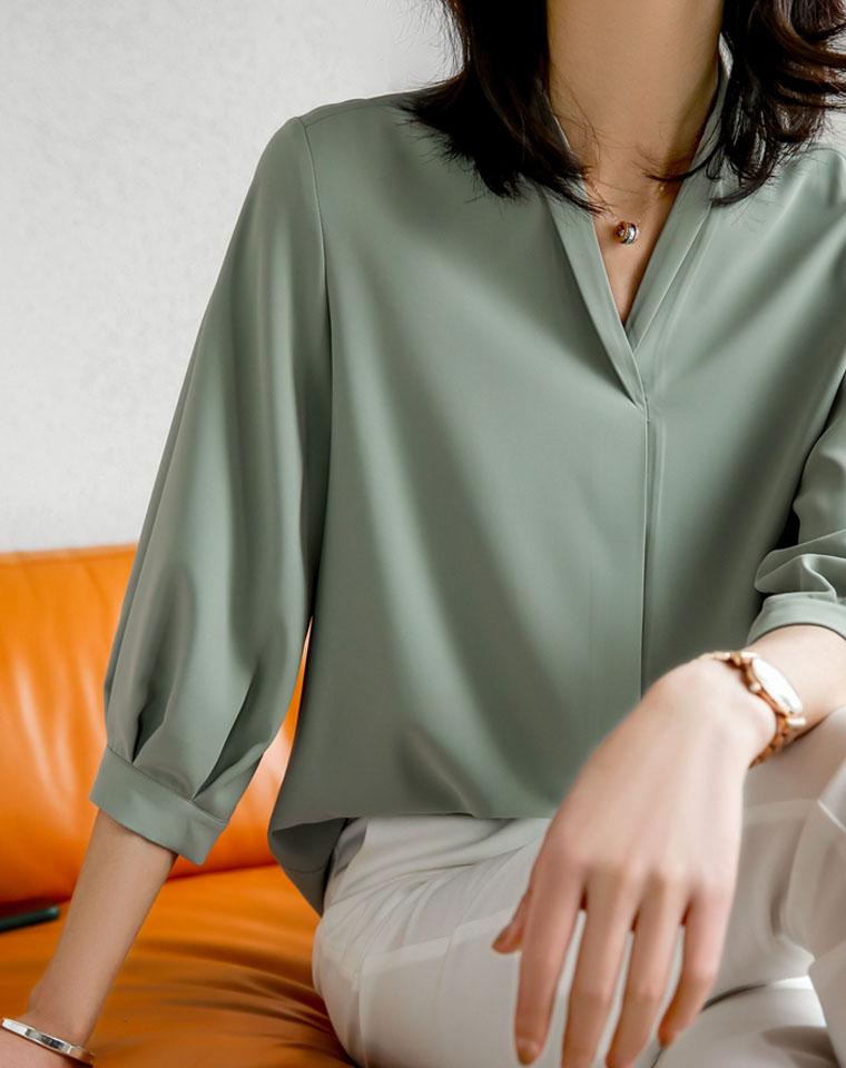 黑科技专利抗皱!超级实穿 仅158元  20最新春款 重磅折叠V领设计 显瘦衬衫