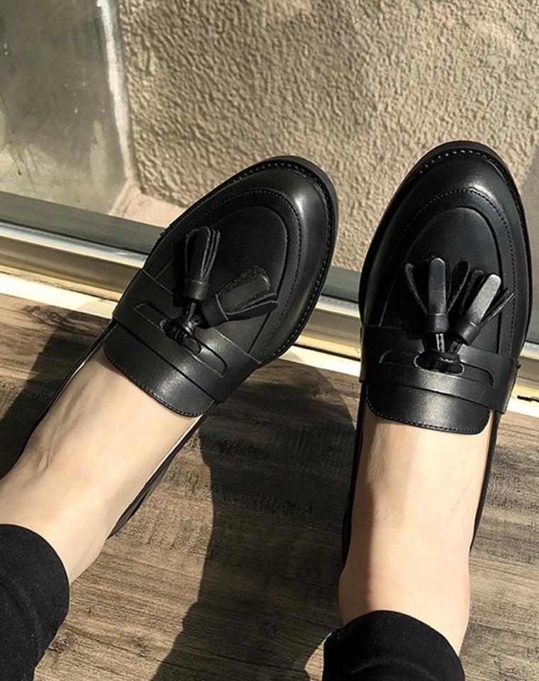 百搭洋气NO1!!仅248元   Churchs纯正原单   复古英伦风 女士平底皮鞋英伦风流苏单鞋, 好穿好搭配 平跟全皮单鞋