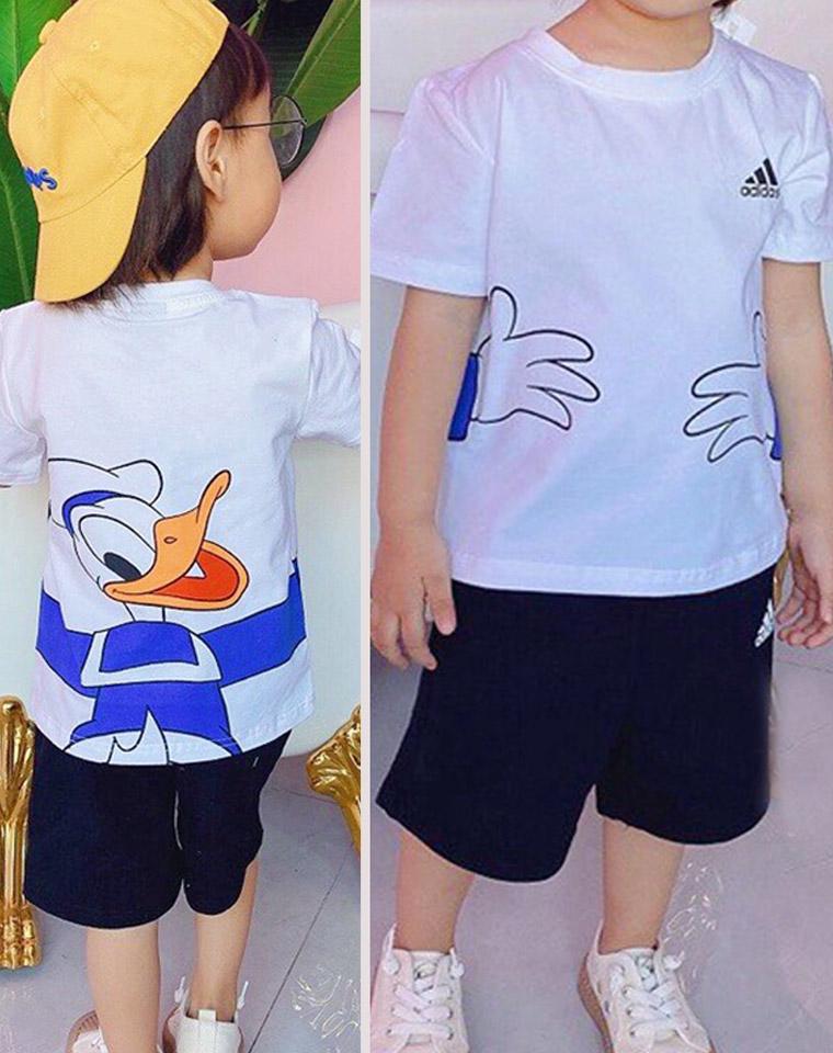 超好品质 亲妈必收  男童女童都有 套装 仅75元 Adidas 迪士尼联名  儿童套装