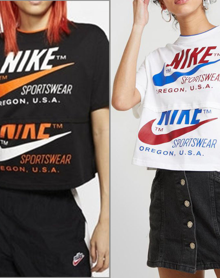 最火的双钩元素 超新假两件拼接设计  仅89 元 耐克拼接假两件T恤 两色!