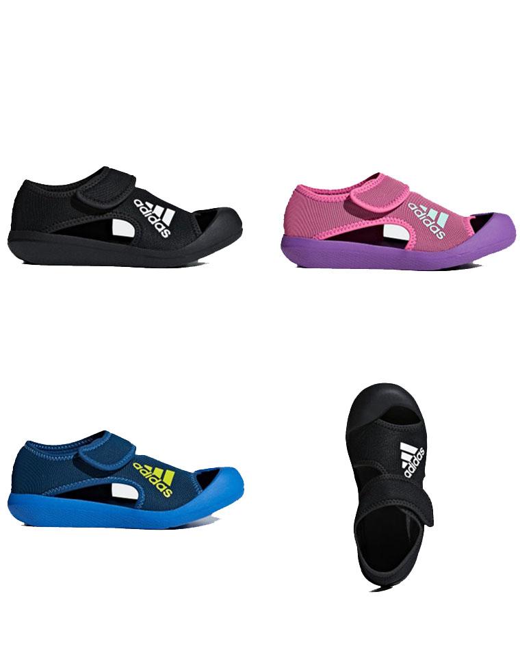 越南产!!专柜同步最新配色 仅125元 Adidas儿童包头凉鞋
