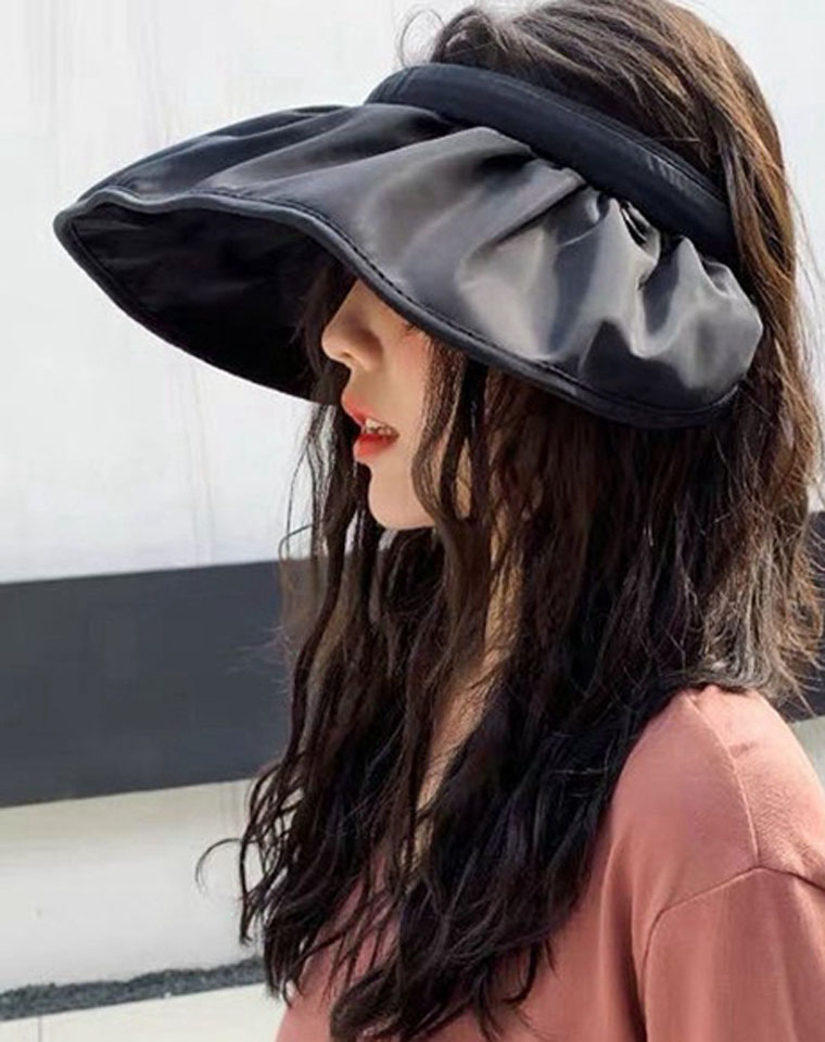 遮阳还能凹造型!!~可以变发成圈的神奇遮阳帽子!!超好看呢  仅29元  发卡式空顶帽