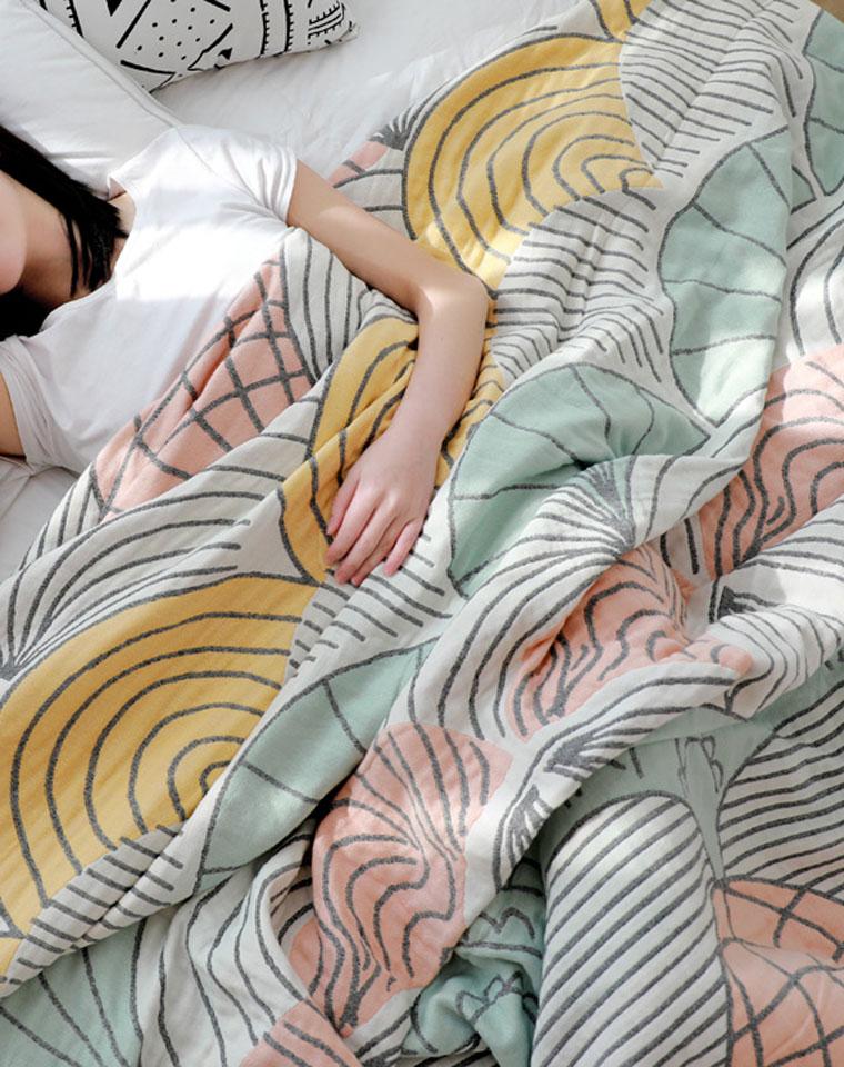 更柔软四层!!品质生活!纯棉四层纱  北欧风!仅89元  138元 日单四层    品质生活 会呼吸的华夫格竹纤维夏凉被午睡毯被子