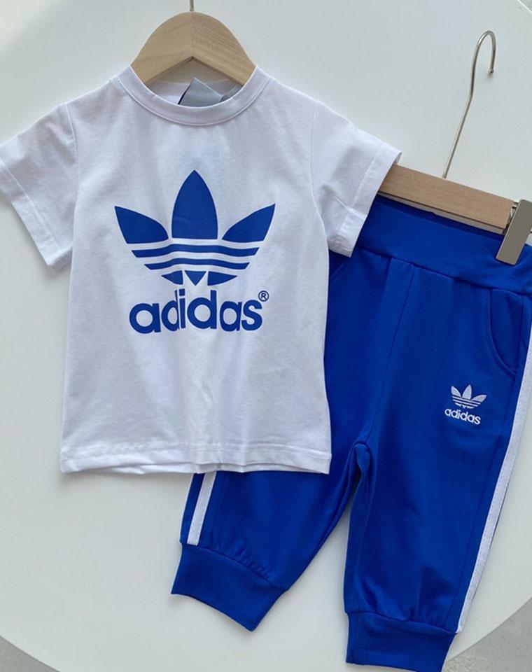 亲妈必收 好穿的七分裤短袖套装 仅68元 adidas纯正尾单一批 男童女童套装