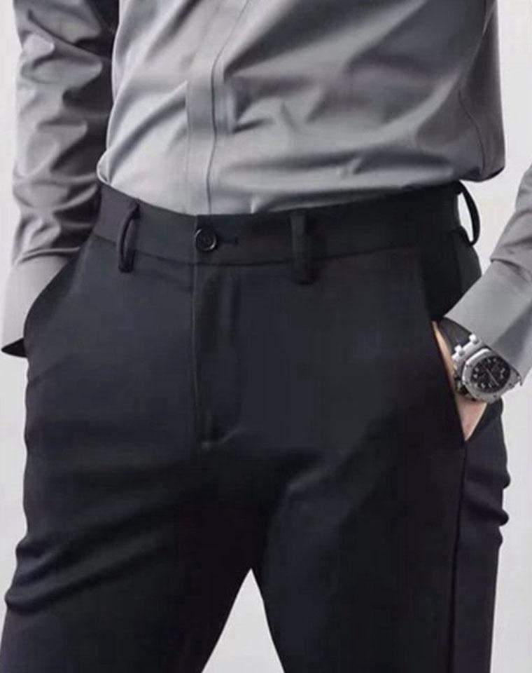 给纯爷们の! 超舒适后腰松紧  仅185元  穿上比穿休闲裤还要舒服 无需用腰带 男士商务休闲裤