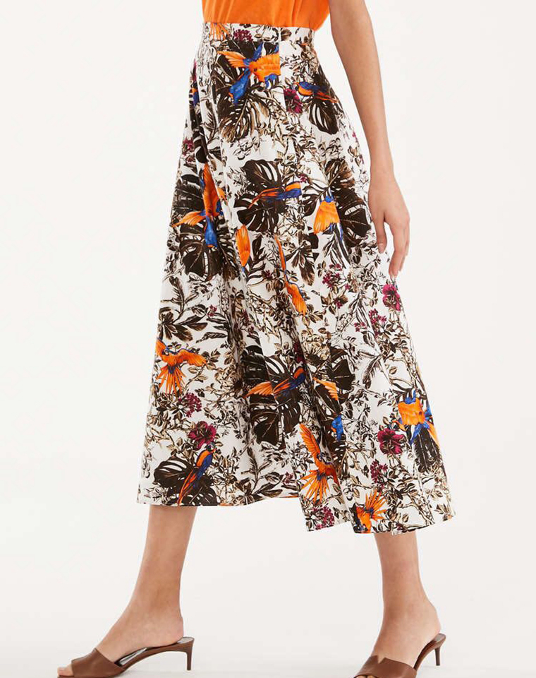 小众轻奢  仅168元  巨显瘦   超洋气の印花 大摆半身裙