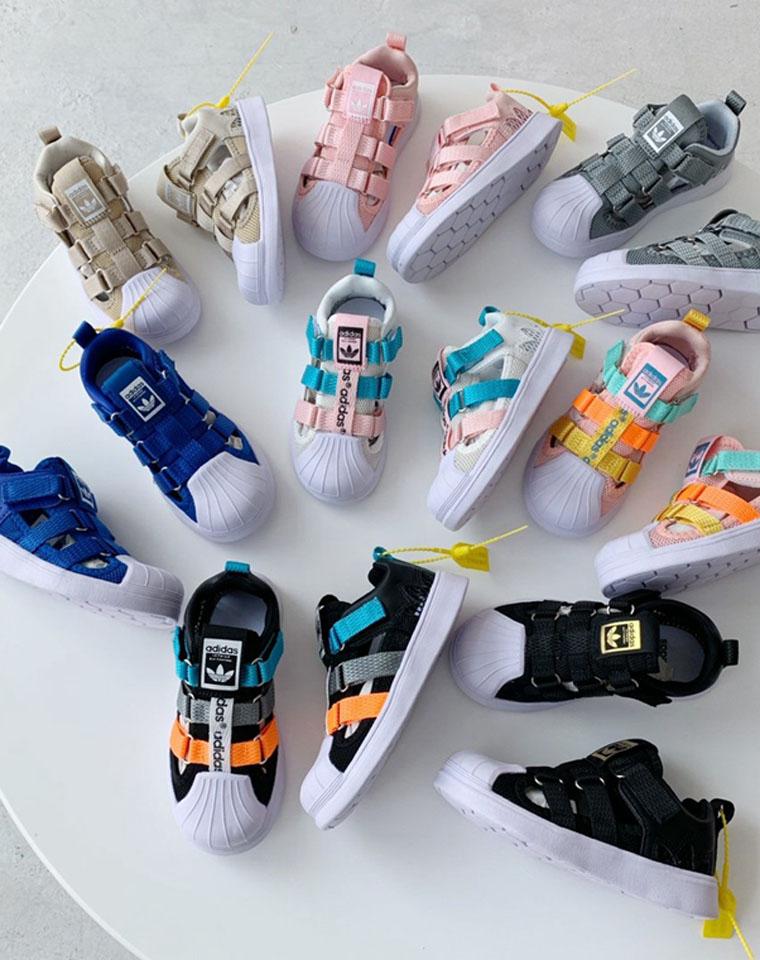 软贝出了 包头绑带凉鞋!安全舒适!一定给孩子带!仅98元!!!渠道好货!! adidas阿迪达斯三叶草贝壳头童运动鞋