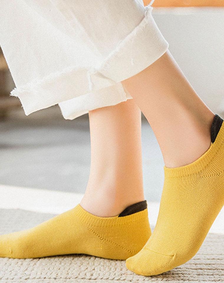 走心设计  加高后跟不磨脚  仅4.5元一双  春夏女精梳棉船袜 保护后跟防掉跟 隐形浅口袜 纯色运动低帮短袜