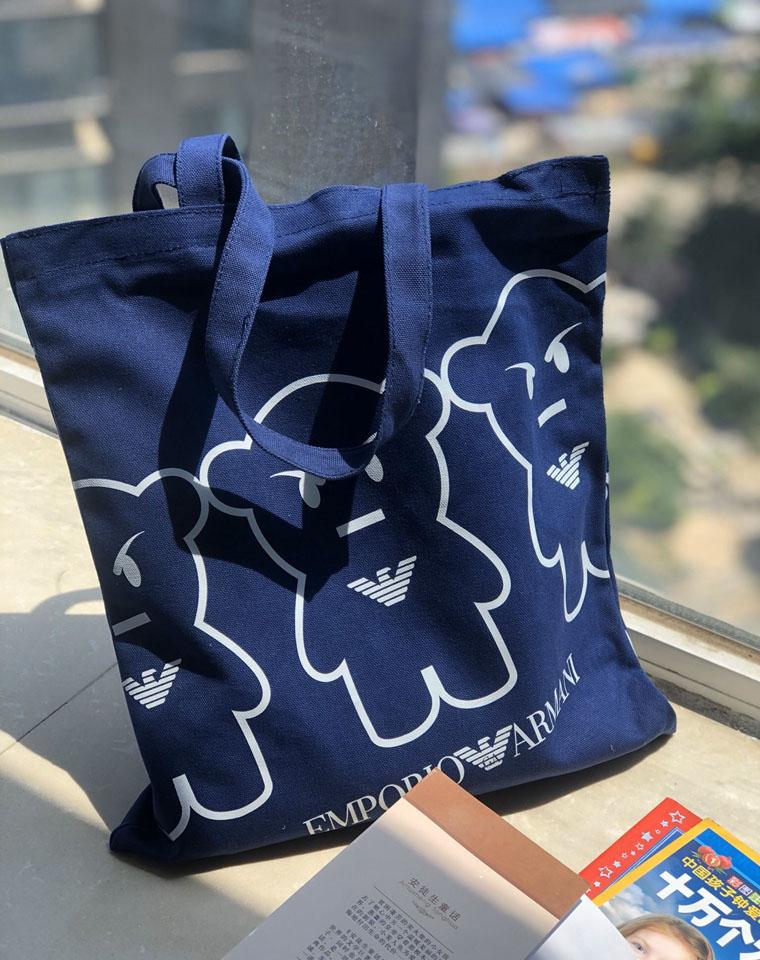 品牌礼品帆布包 环保袋  仅59元 EMPORIO  ARMANI阿玛尼纯正原单   实用厚帆布环保托特包 购物袋