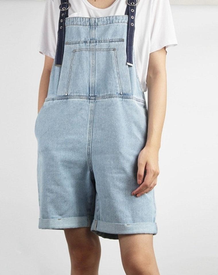 减龄好帮手 仅125元  可调节肩 夏季薄款 宽松纯棉 老爹背带牛仔短裤