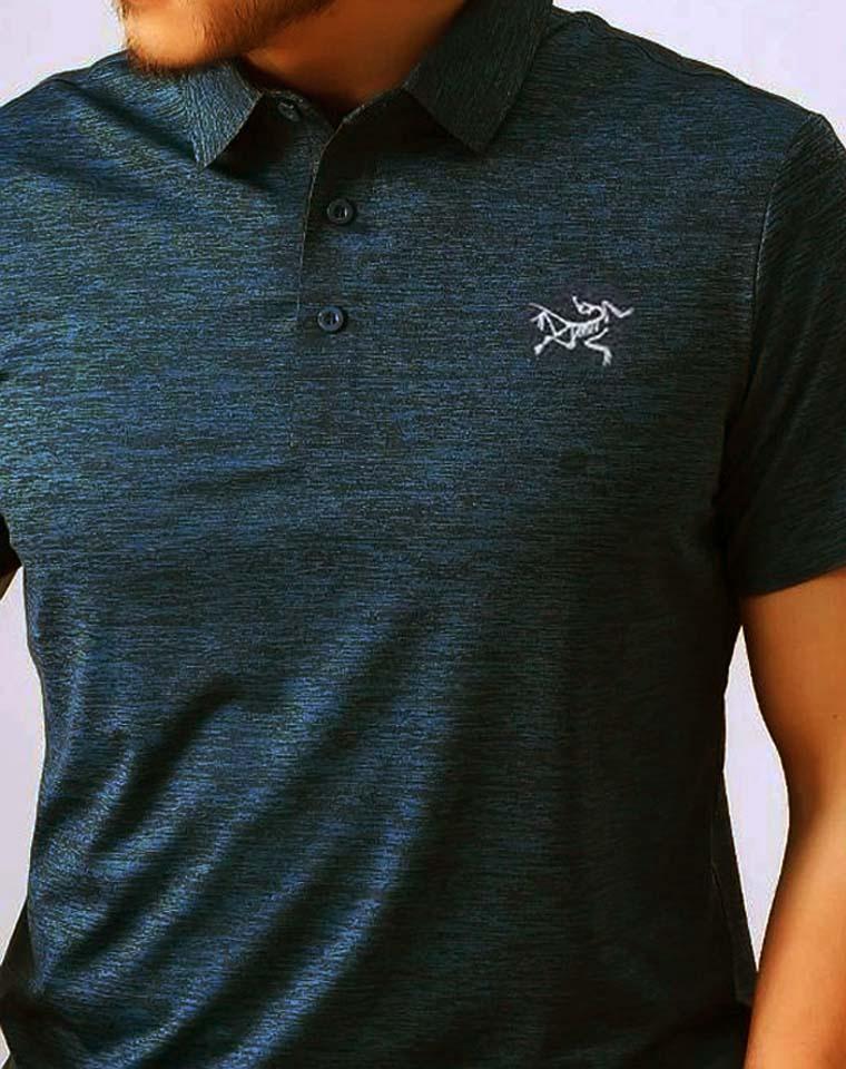 给纯爷们の硬货 高端暗纹速干 仅118元   加拿大Arcteryx始祖鸟  客供面料  高端无痕压胶 自带暗纹 抗皱丝滑  男士翻领POLO衫T恤衫