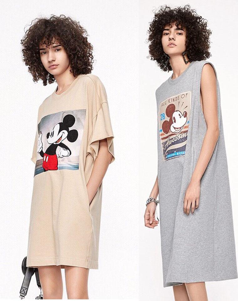 小红书超级火!备受瞩目  仅98元   128元 MO&CO纯正原单 2020的秋季最新 减龄米奇 背心裙  短袖连衣裙两款
