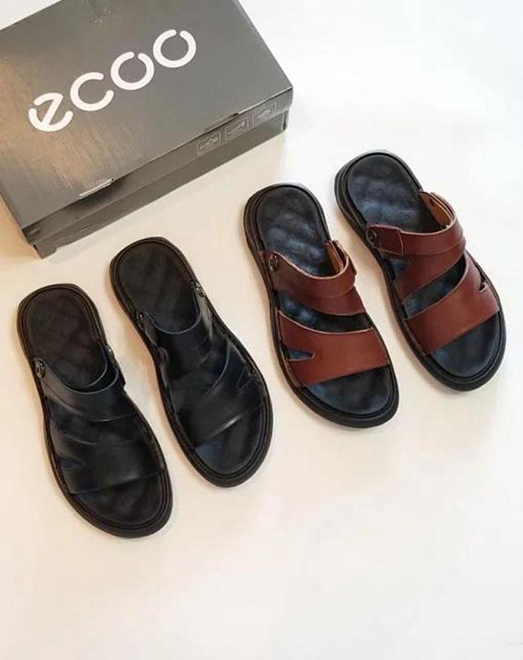 超级好货 给纯爷们の  仅185元 ECCO纯正原单  真皮舒适男士凉鞋 拖鞋两穿