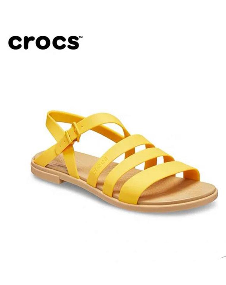 简约舒适!欧美度假罗马风 仅128元 Crocs卡洛驰纯正原单  出口订单!胶质束带柔软防滑平底女士凉鞋