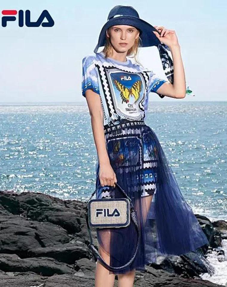 美炸!高圆圆演绎  超值两件套  仅118元  FILA纯正原单   夏季新款连衣裙+网纱半裙两件套