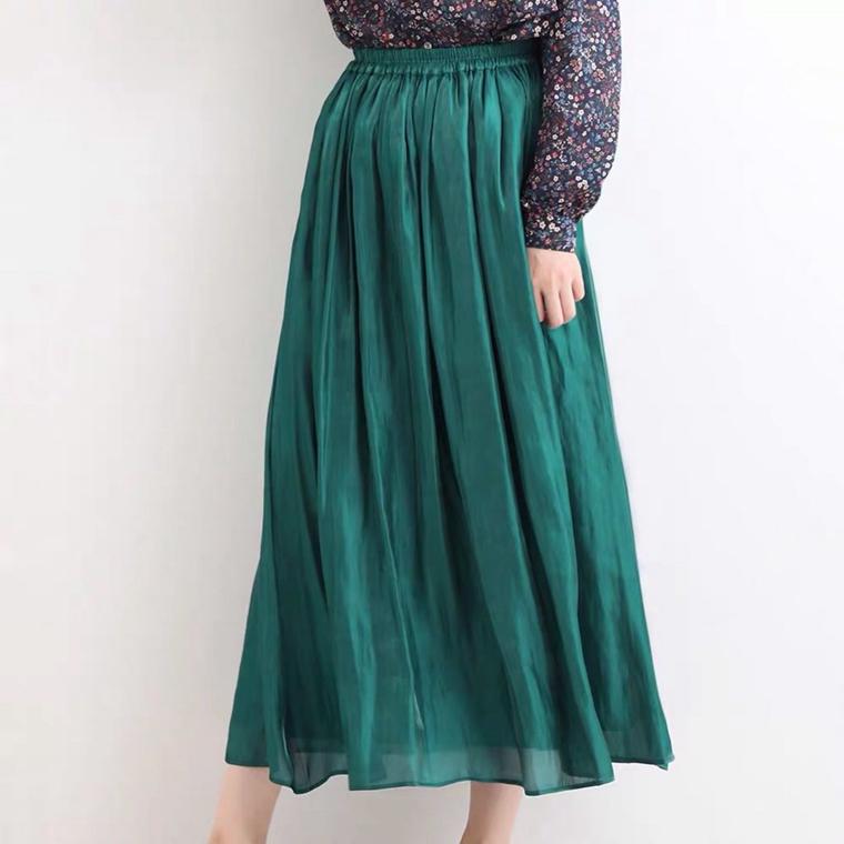 360度无死角 超美流光半裙  仅79元 自带高级流 MAXMARA纯正原单   飘逸优雅 轻盈透气半身裙百褶裙