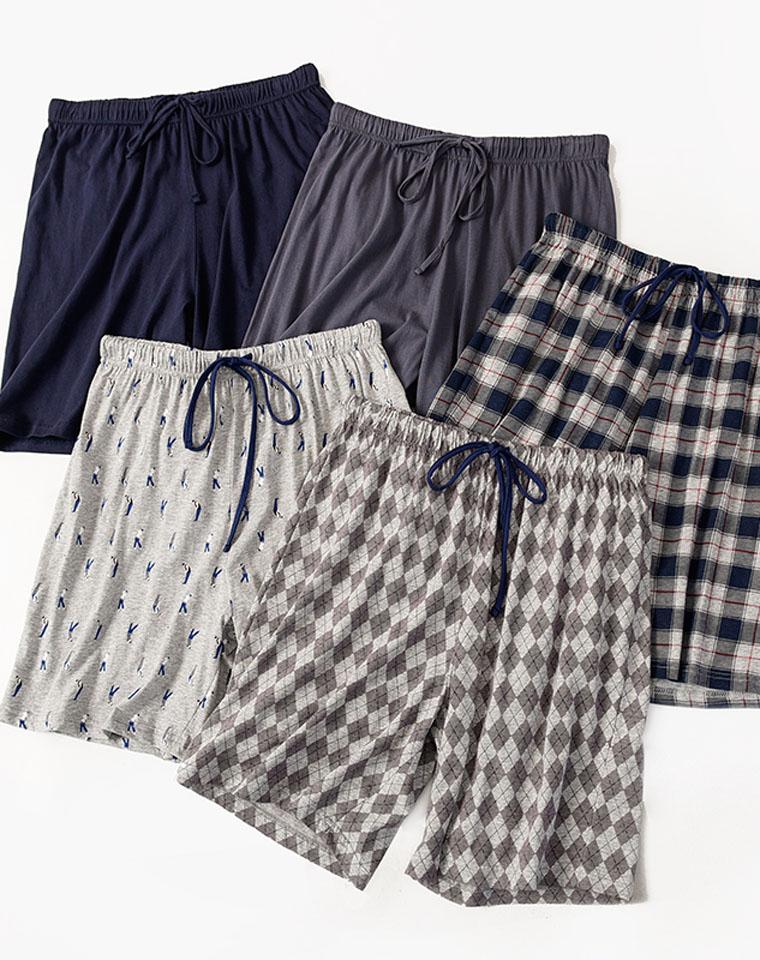 给纯爷们の散步大裤衩 舒适居家  仅29元    夏季男士家居短裤 纯棉薄款睡裤 有大码