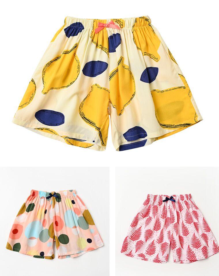 闺女夏天离不了的裙式短裤  仅29元  凉爽舒适 女童人棉裙式短裤 柔顺垂坠