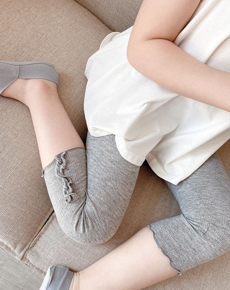 一定给闺女收 随意裁 巨舒服 仅35元  女童薄款罗纹打底裤  女童七分裤中大童夏装 安全裤