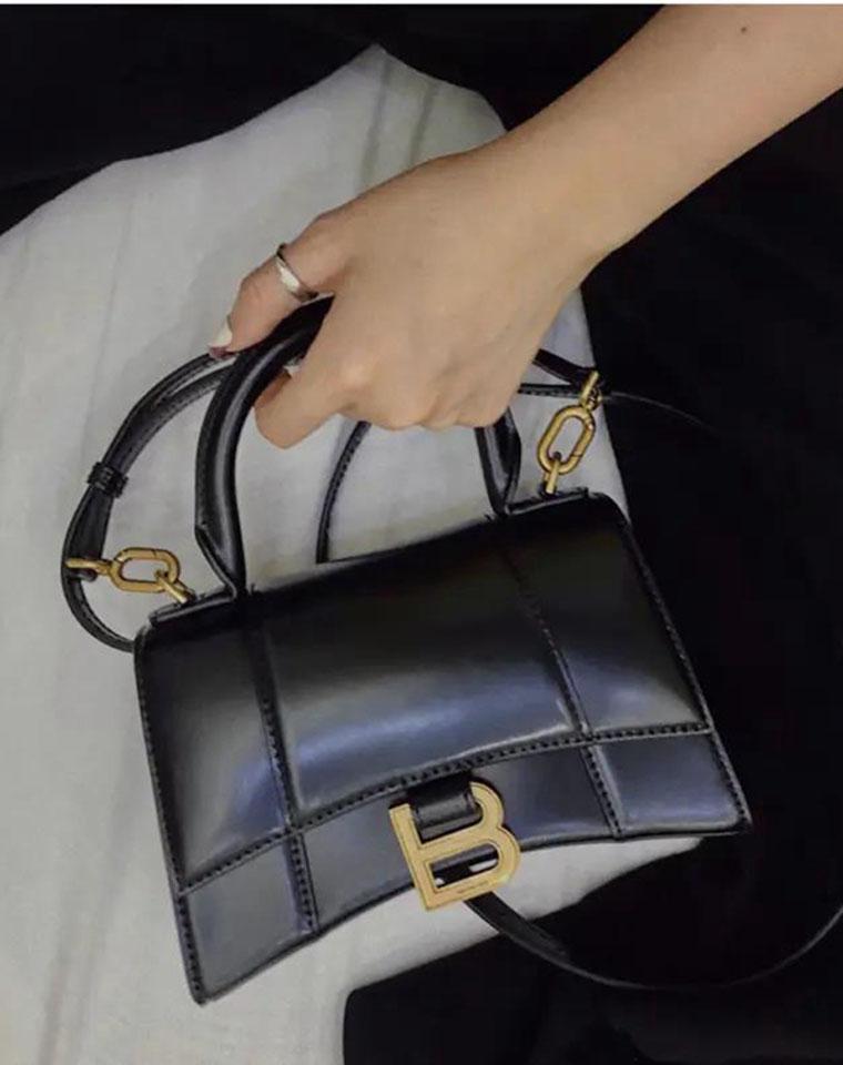 时尚圈打卡   超高辨识度 仅468元  Balenciaga巴黎世家纯正原单 Hourglass沙漏包 牛皮手提包/斜挎包沙漏包 牛皮手提包 斜挎包