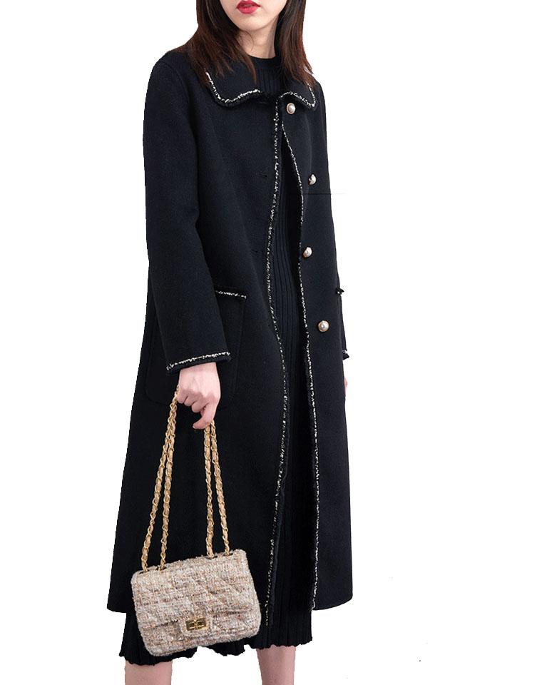 反季半价福利!!仅289元  双面尼小香风外套 赫本中长款双面尼 羊毛羊绒大衣