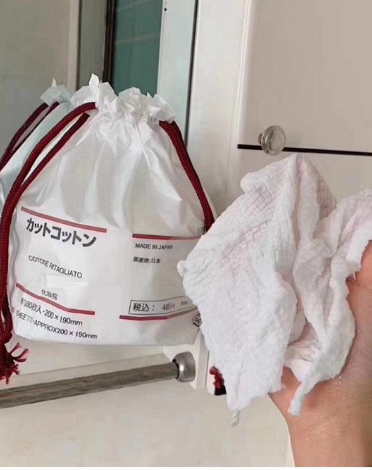 很大一卷 250克高克重!80抽!仅13.8元  加密加厚蜂窝洗脸巾 MUJI无印良品纯正原单 ! 加厚洗脸巾