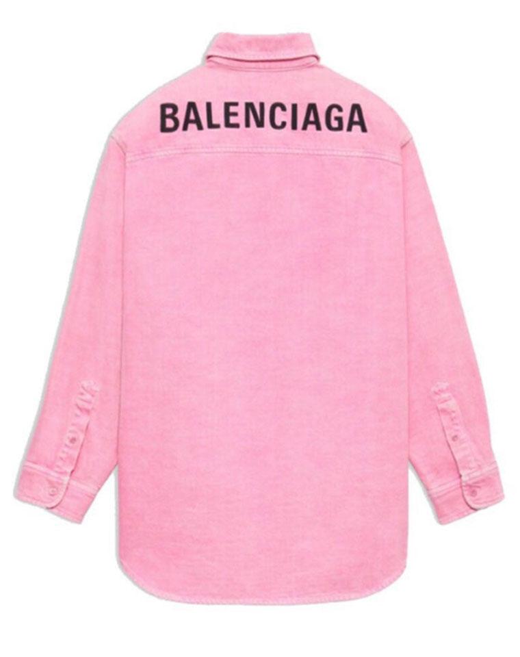 美出天际 樱花粉后背字母 男女款  仅169元  Balenciaga巴黎世家纯正原单 20SS最新  宽松牛仔外套