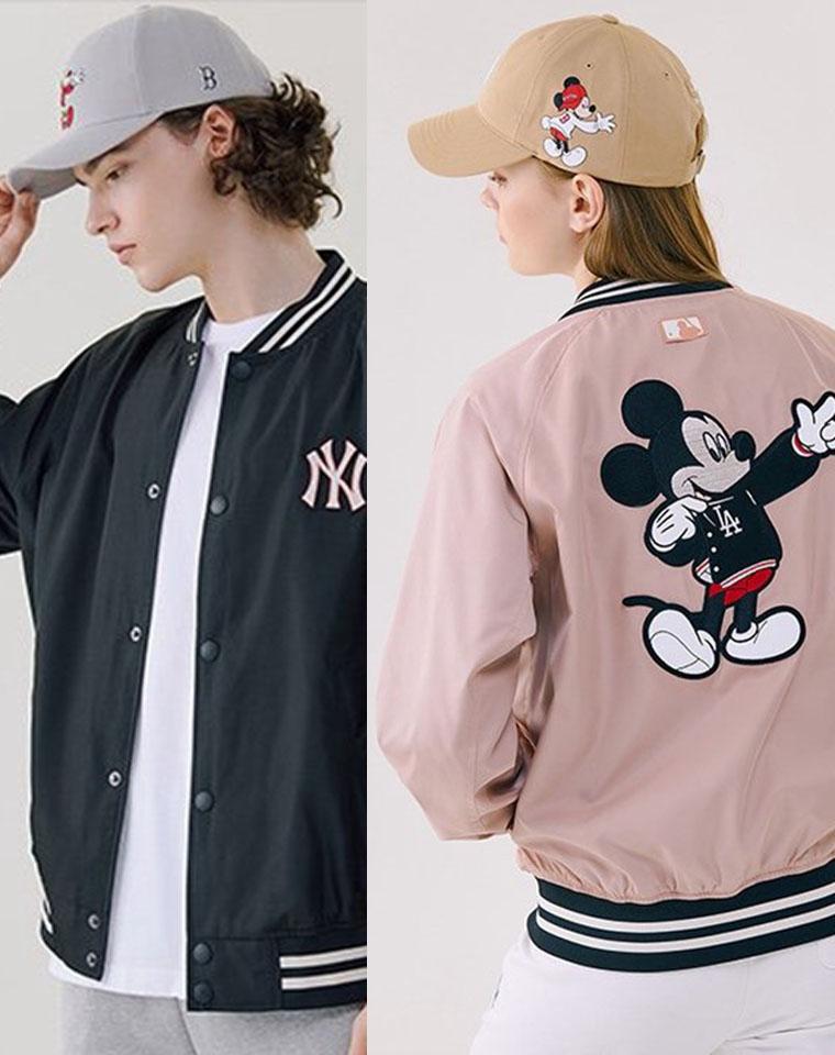 爆到要起飞 男女款 仅185元  韩国MLB纯正原单  NY洋基队 DISNEY迪士尼联名    廓形棒球服 外套