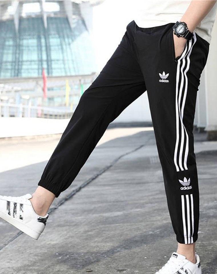 你也能穿出大长腿!男女款! 仅108元   2020基础款    三叶草黑色收口卫裤