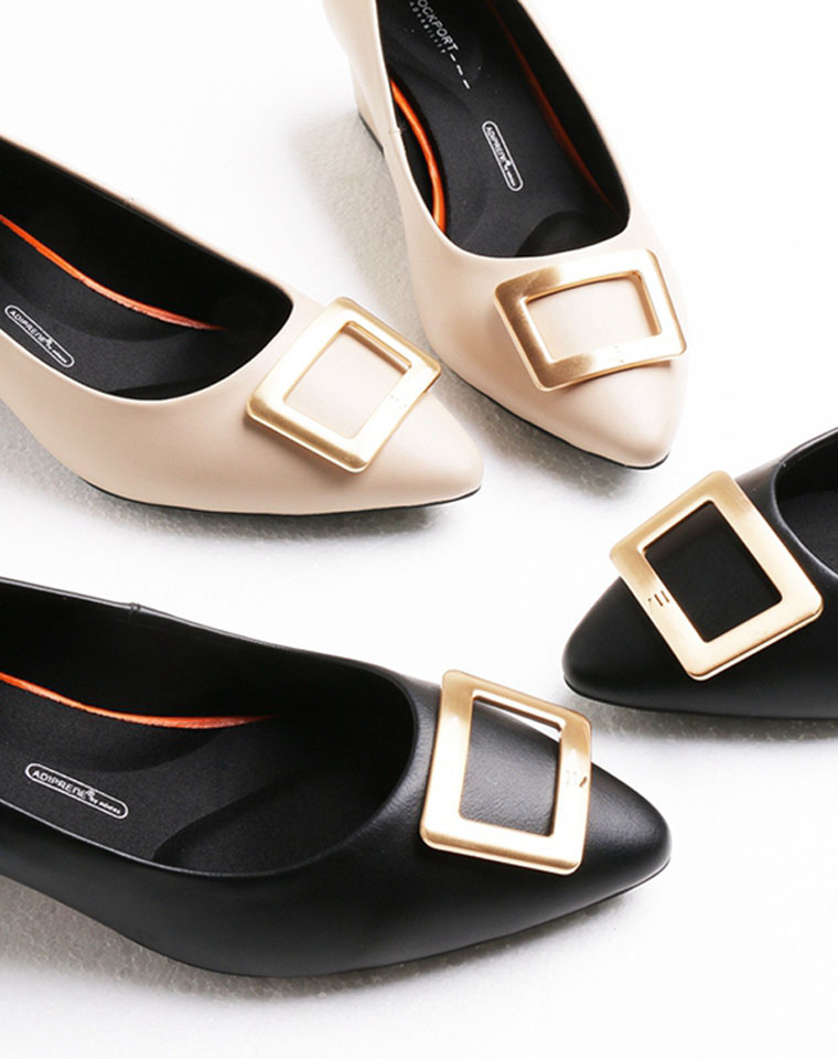 最舒适的白宫鞋  闭眼跟团! 绝不踩雷! 仅198元  美国老牌Rockport乐步  纯色白宫两个系列 高跟 中跟 小羊皮浅口皮鞋  尖头女鞋