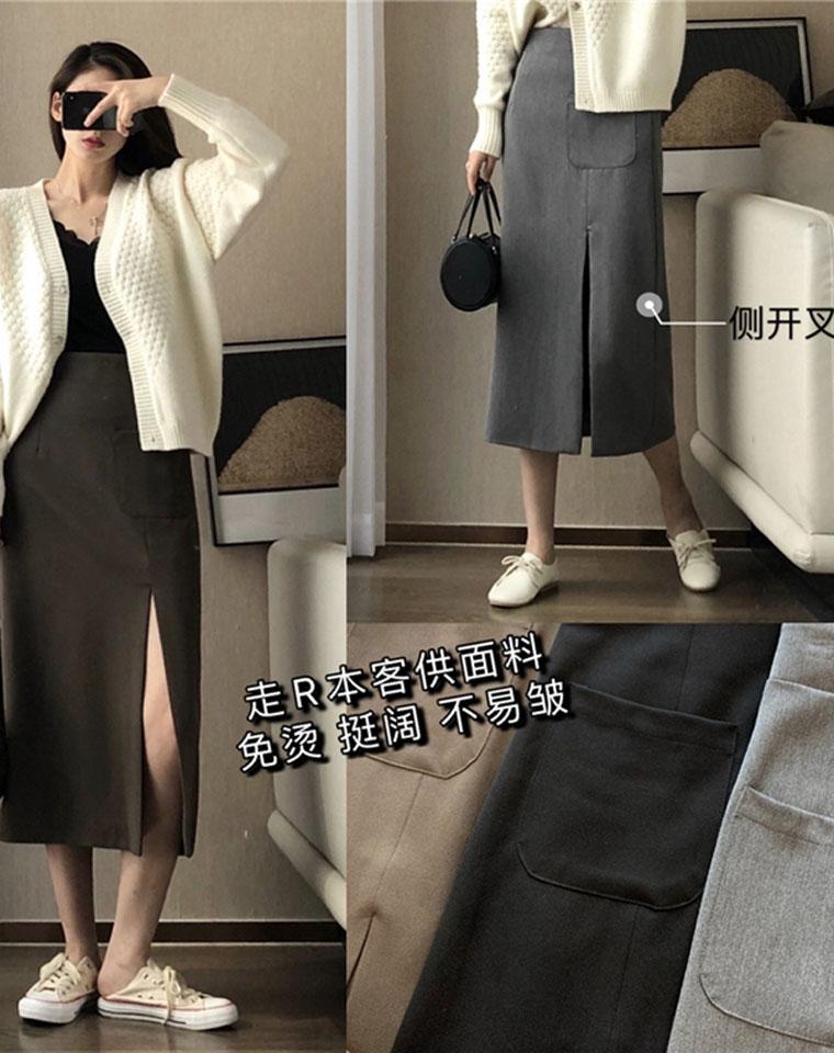 大有用处 通勤NO1 仅98元 日本订单  客供面料!免烫不易皱高腰开叉显瘦包臀  半裙长