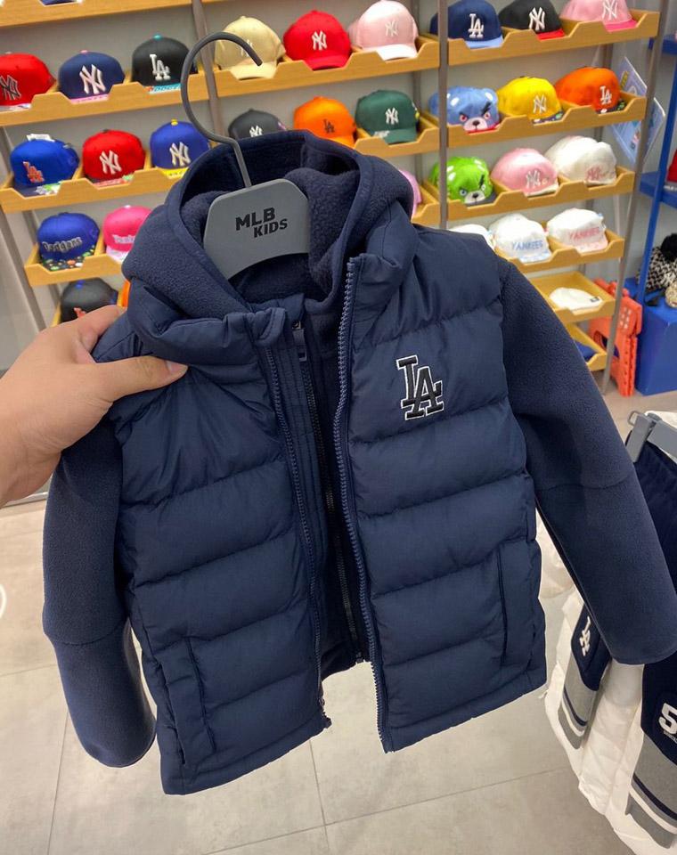 亲妈必收 MLB 韩国代购  仅189元  JP71961儿童马甲两件套运动保暖抓绒衣外套