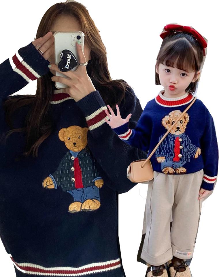 亲子品质泰迪熊  仅88元  98元  学院风 品质泰迪熊 厚实针织毛衣
