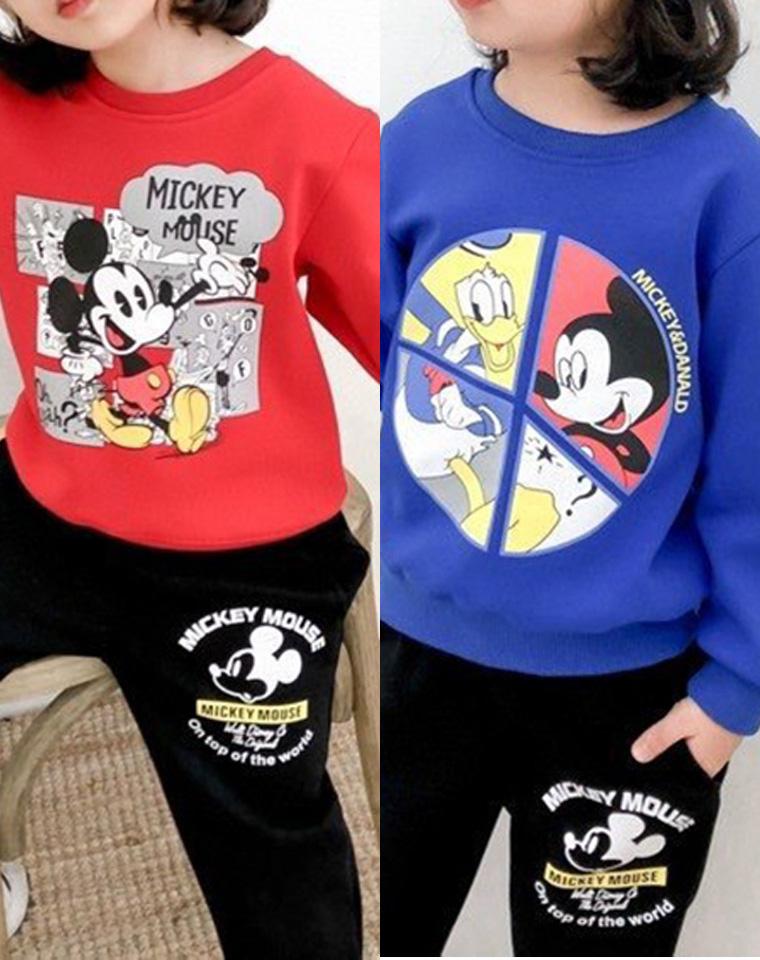 绝无踩雷!亲妈必收!!仅98元  Disney迪士尼纯正原单  男女童一体绒 卫衣卫裤加绒套装