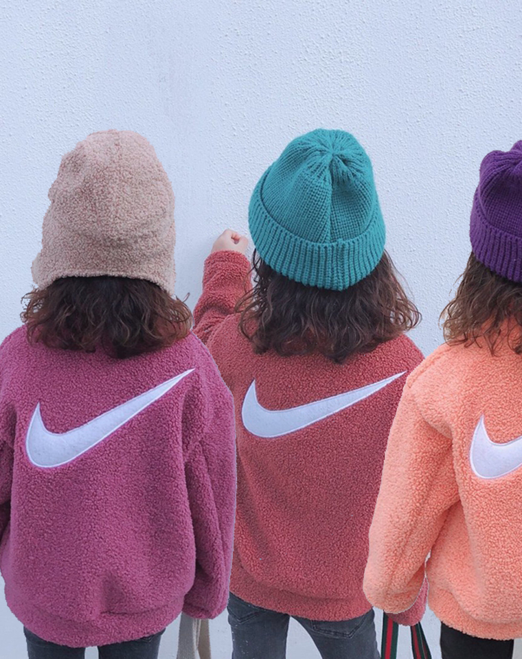 亲妈必收 史上最全14色!仅85元   后背大钩子     人造羊羔绒  保暖外套