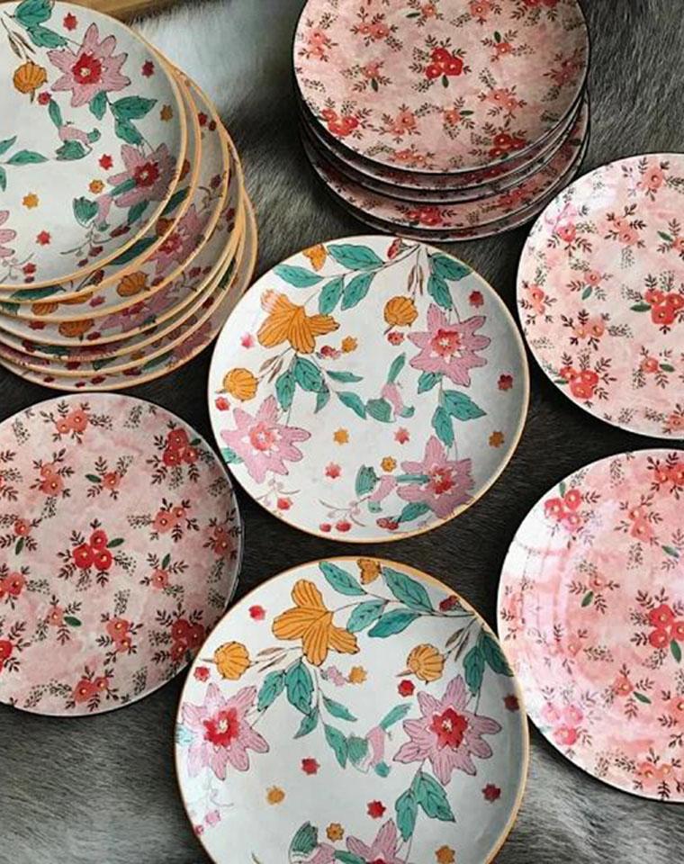 瓷器第一团!!哪儿也买不到!!仅49元  外贸订单  高端花系陶瓷盘