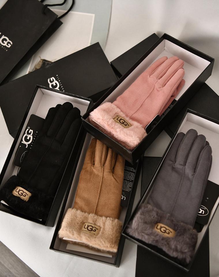 大风天亲缺双手套  仅69元 UGG防风保暖 加厚里绒 麂皮绒触屏手套