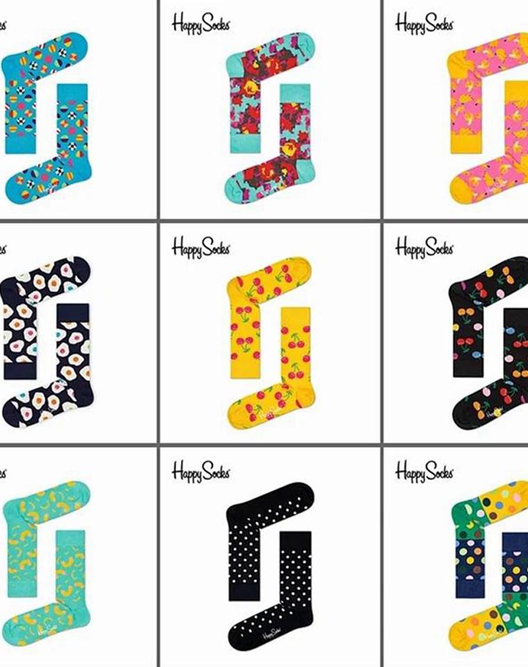 全世界都在穿Happy男女袜!仅69元5双!  妥妥的搭配神器  秋冬中高筒袜