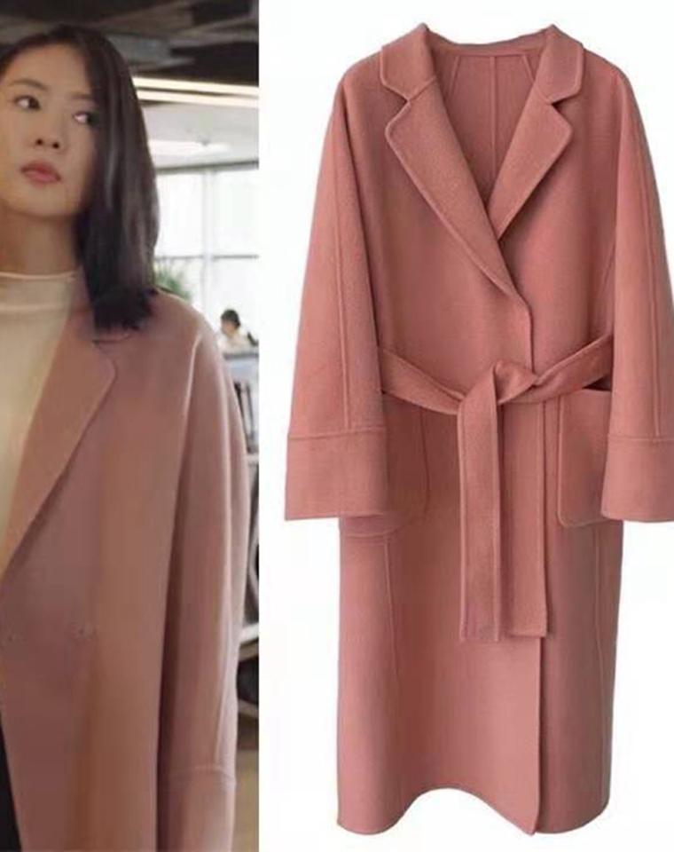 玫瑰人生 日常仪式感 仅498元  Maxmara纯正原单 羊毛双面呢  优雅手工长款大衣