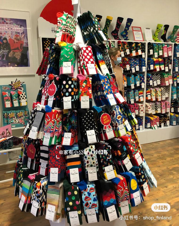 Happy圣诞袜3双一组  全世界都在穿的男女袜!仅34.9元3双!  妥妥的搭配神器  秋冬中高筒袜