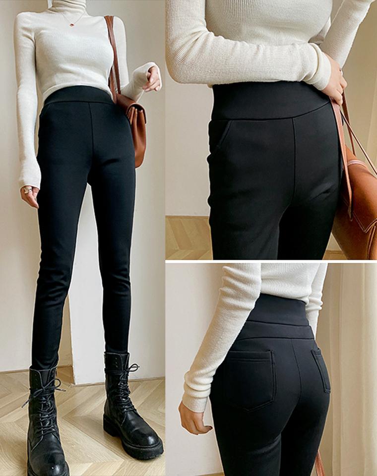 高密加绒四面弹小黑裤  仅98元 加密暖绒  精工细作 可穿万年  修身弹力高腰打底裤  秋冬小黑裤外穿
