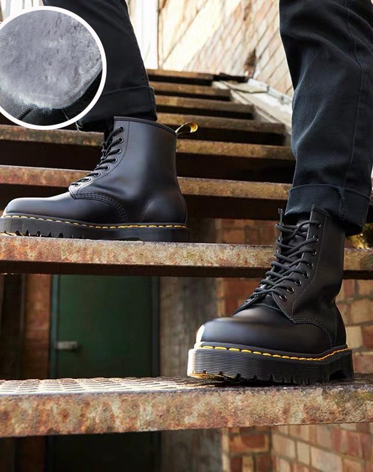 加绒哒!男女款马丁靴 仅348元  Dr Martens马丁博士原厂原单 8孔纳帕真皮  英伦风厚底马丁靴  加绒保暖靴