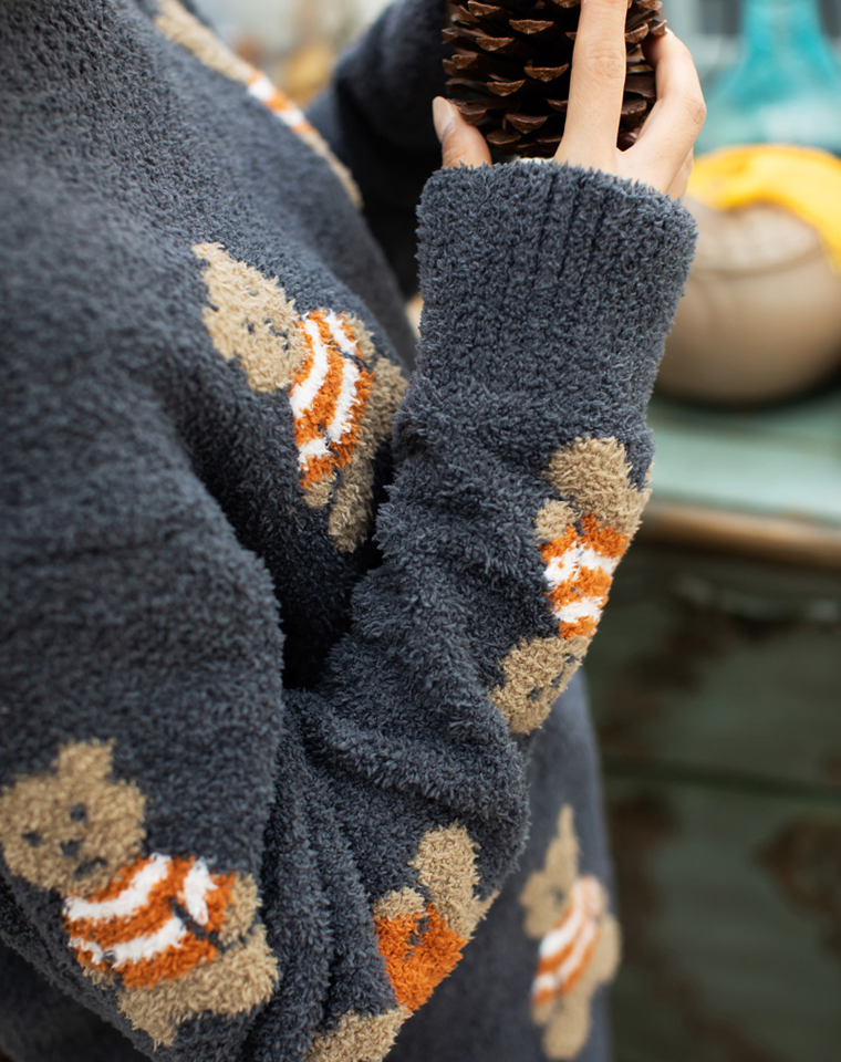 穿上不想脱系列 超治愈小熊  仅165元   小日本gelato pique纯正原单  软绵绵小熊保暖加厚 家居服套装 秋冬睡衣