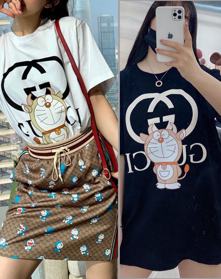 哆啦A梦50周年纪念系列  男女款   仅95元  Doraemon x GUCCI联名纯正原单  21春夏短袖T