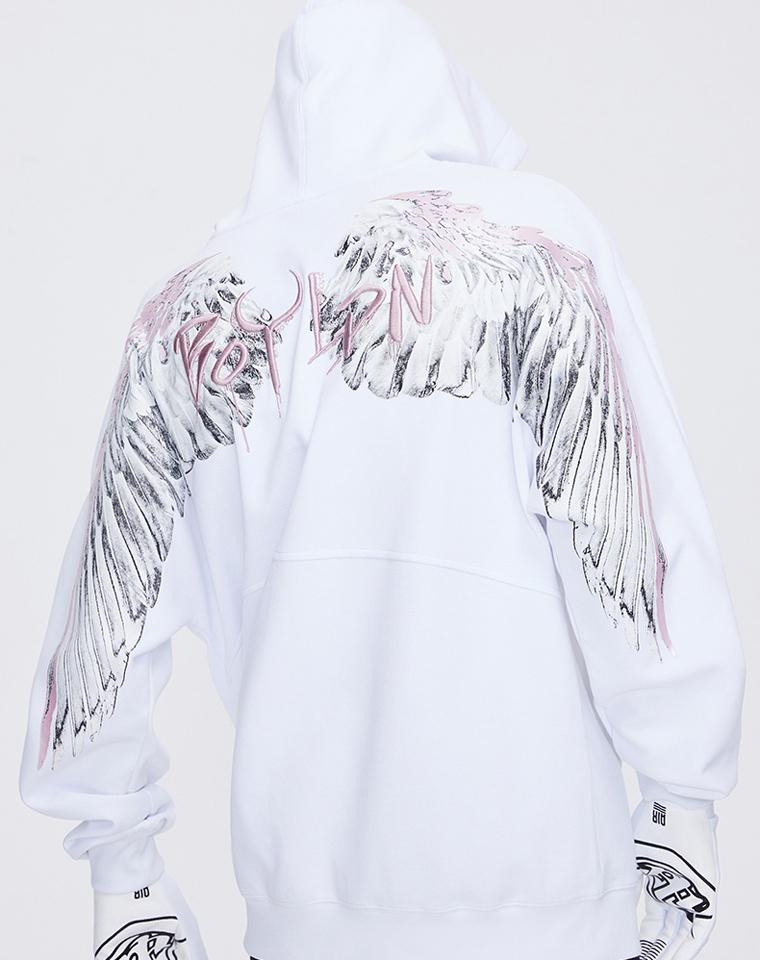 超重工 款式太炸了! 男女款 仅185元  198元  Boy London纯正原单 超好品质   金线刺绣翅膀卫衣 连帽拉链衫