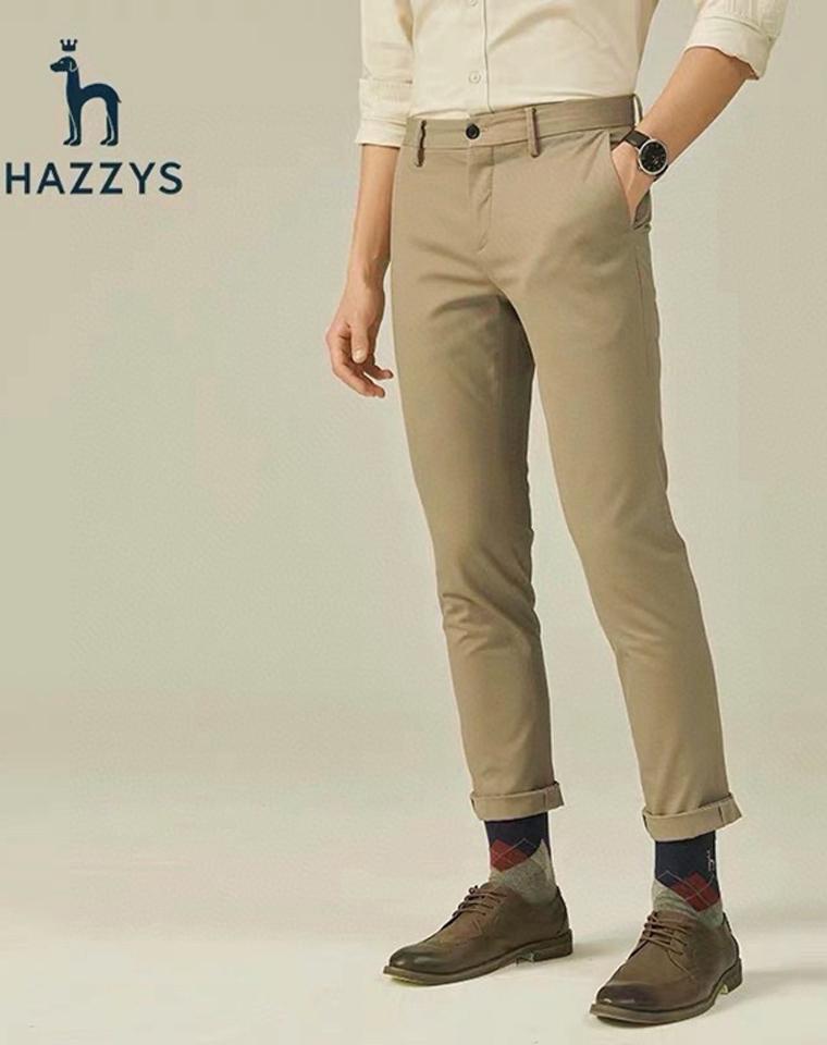给纯爷们の   超级舒服 微弹力  仅148元  Hazzys哈吉斯2021春季最新  纯正原单  客供微弹力 哑光质感全棉 长裤 商务裤