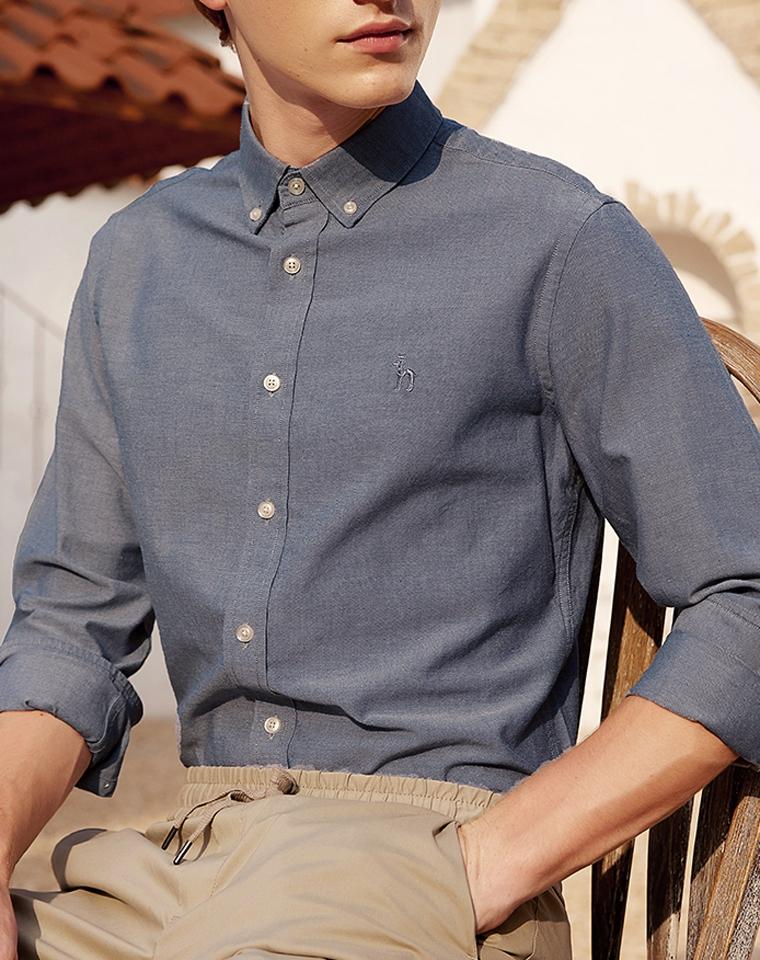 给纯爷们の好货  超级舒服 微弹力  仅148元  Hazzys哈吉斯2021春季最新  纯正原单 牛津纺衬衫