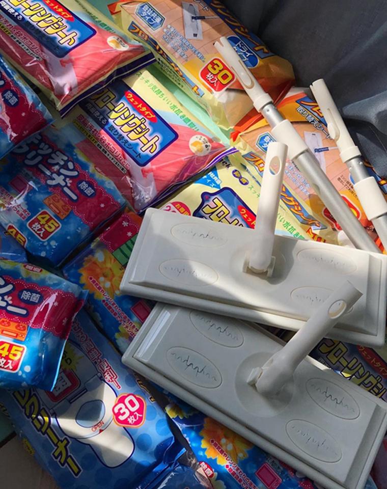 功能型!好用!!仅4.8元 5.8元 6.8元  19.9元  日本静电除尘拖把+湿巾大集合