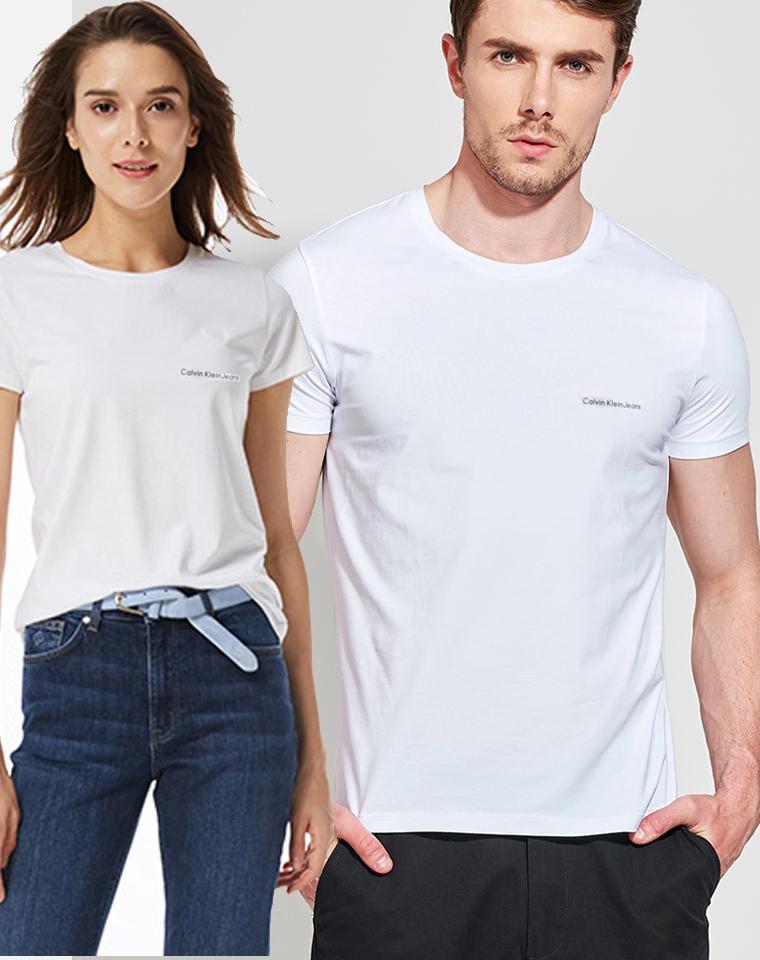 全部有原包装!黑白都有了! 仅78元两件!两件!男女款 纯正原单的Calvin klein Jeans 短袖T
